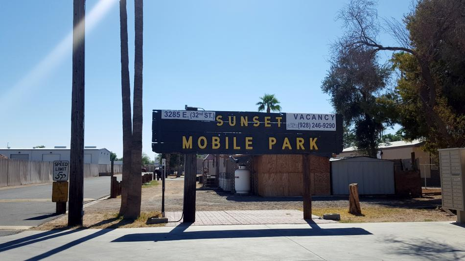 Sunset Mobile Home Park In Yuma Az